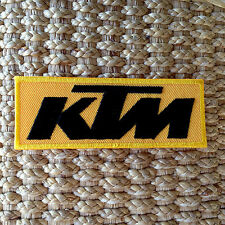 KTM Sew Iron On Patch Motorcycles Racing Logo Embroidered Motor Racing Sport New