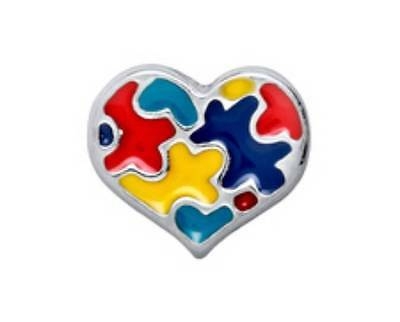 Authentic Origami Owl AUTISM AWARENESS HEART Charm for Living Locket (CAUSES)