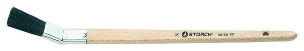 12 x Storch Platt-Pinsel Größe 25mm, 42 mm Borstenlänge-055025