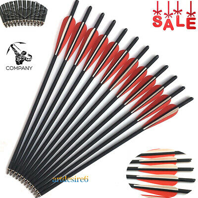 "12pcs Carbon Arrows 30/"" Crossbow Bolts 7.6mm Shaft Hunting Archery Hunter"