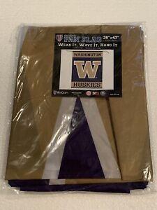"*NEW* NCAA University of Washington UW Huskies 36"" x 47"" Garden Yard Flag Banner"