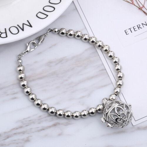 Fashion Femmes Parfum Huile Pad Diffuseur Boule Pendentif Perles Bracelet Bijoux