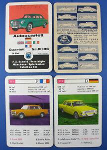 Quartett - Autoquartett - Funck Eierteigwaren + Variante - FX Schmid III/86 1965