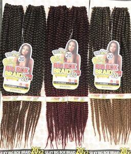 Silky Big Box Braid 20 True 2x Crochet Braid By Motown Tress Pre