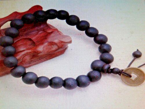 Hommes//Femmes tibétain bijoux Bouddha de méditation Noir Bracelet