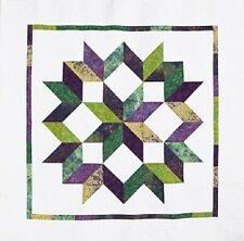 """Modern Carpenter's Star ~ Quilt pattern 70x70"""" by Calico Carriage No y Seams"""