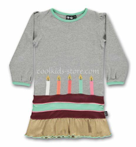 UBANG babblechat Kleid Kerzen Birthday grau gold Größen 98 104 110 116 122 128