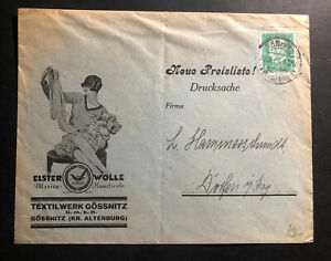 1930-Gossnitz-Germany-Advertising-cover-Textil-Materials-Wolle