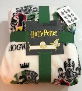 NOUVEAU Harry Potter Poudlard Serpentard Fleece Throw Blanket 120 cm x 150 cm Primark