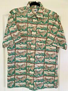 REYN SPOONER Shirt Vintage Reyn Spooner Hawaii Aloha Surf Board All Over Print 100/% Cotton Button Up Hawaiian Shirt Size M