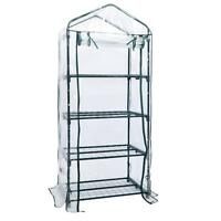 4 Tier Mini 63 Portable Greenhouse W/shelves Mini Green Plants House