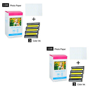 KP-108IN Color Ink /& Paper Set Compatible For Canon SELPHY CP900 CP1200 3115B001