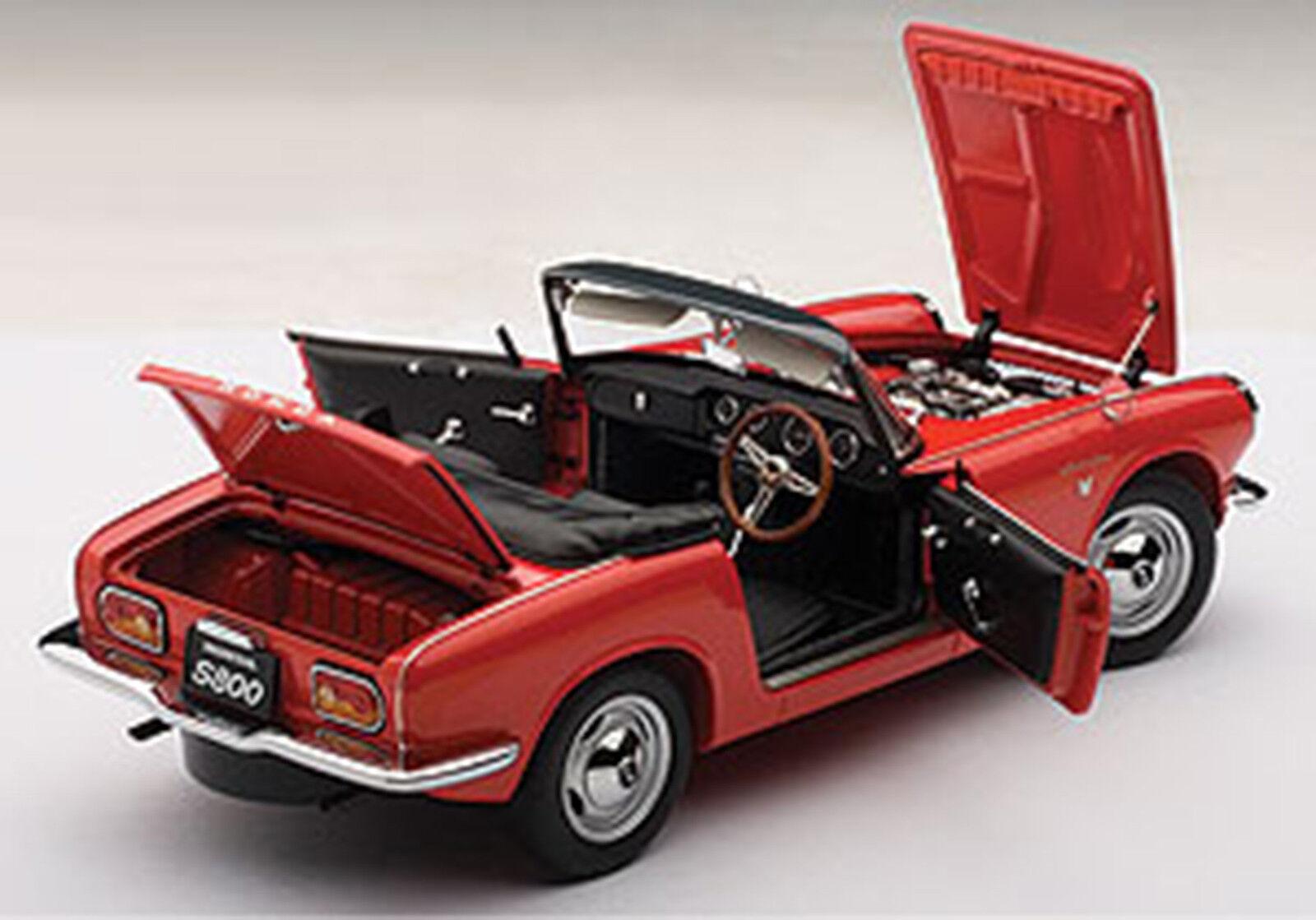 Autoart honda s800 roadster 1966 rot 1   18 - skala.neue version