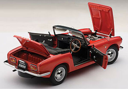 Autoart HONDA S800 ROADSTER 1966 RED Color 118 Scale. New Release!