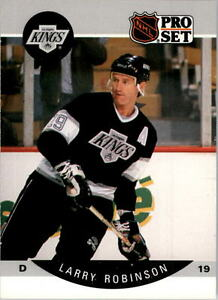 1990-91-PRO-SET-HOCKEY-LARRY-ROBINSON-CARD-125-LOS-ANGELES-KINGS-NMT-MT-MINT