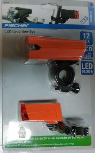 Fahrrad LED Leuchten Set• bis 12 Lux Lichtstärke Fischer