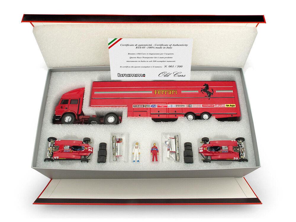1 43 Brumm Iveco 190 Ferrari 126C2 San Marino 1982 Villeneuve Pironi Transporter
