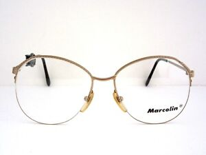 26c81d53fe7d8 MARCOLIN 7000 GE GEP Eyeglass Frames Gold Rimless Vintage Italy NOS ...
