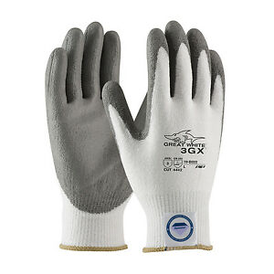 NEW PIP- 19-D322 L - GREAT WHITE DYNEEMA CUT-RESISTANT GLOVES SIZE L ( 1 PAIR )