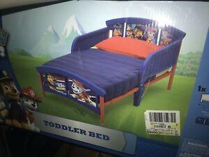 Plastic Toddler Bed PAW Patrol Children Steel Frame Blue ...