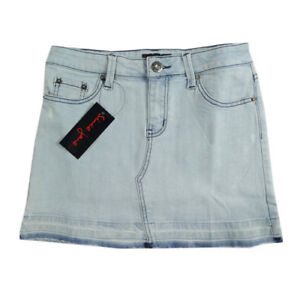 New-Ladies-Older-Girls-Short-Washed-Out-Faded-Denim-Skirt-Since-Jane-Sizes-6-12