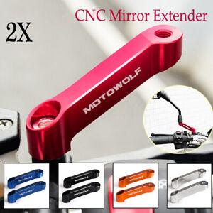 Coppia-10-MM-CNC-moto-BIKE-specchio-alzate-EXTENDER-adattatore-adattatore
