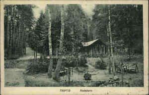 1926-Stempel-TRIPTIS-auf-AK-Thueringen-Wald-Partie-am-Rodaborn-Haeuschen-Postkarte