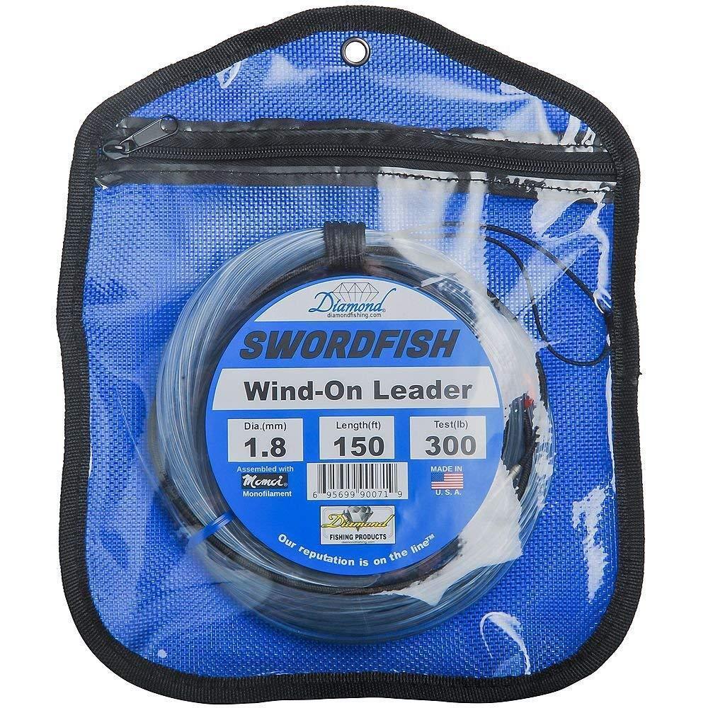 Momoi Diamond Swordfish Wind On Leaders-150 Ft, 250 Lb., Clear