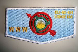 OA-KU-NI-EH-LODGE-145-DAN-BEARD-COUNCIL-PATCH-SHIELD-CLOTH-SERVICE-FLAP