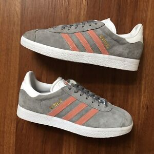 Details about Adidas Gazelle Grey Pink BY9362 Womens Size 6 Excellent!