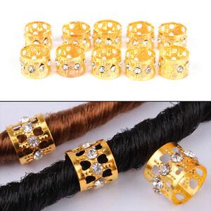10X-Braiding-Hair-Rings-Dreadlock-Marley-Braids-Beads-Clips-Cuffs-Rhinestone