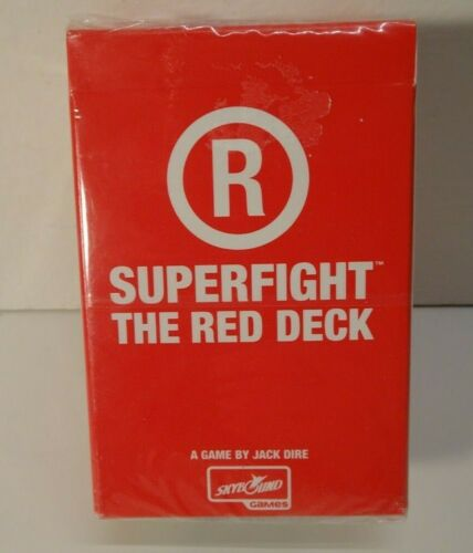 Superfight The Red Deck Expansion Set Card Game BN!