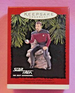 Star-Trek-Commander-William-T-Riker-Hallmark-Christmas-Ornament-New-1996-NIB