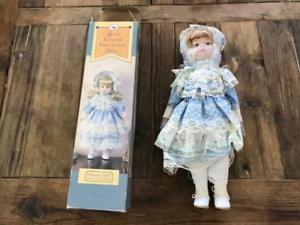 Baronet Guild Collection - bluee Bonnet Porcelain Doll - New