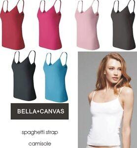 Bella New Ladies Size S Xl Cotton Spandex Spaghetti Strap