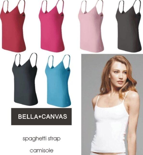 Bella NEW Ladies Size S-XL Cotton Spandex Spaghetti Strap Cami Shirt Womens 600