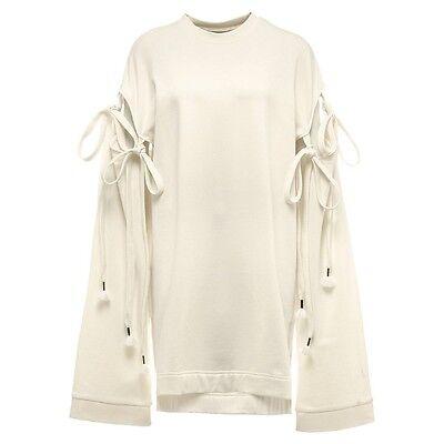 $159.99 Fenty Puma By Rihanna Damen Gestaffelt Saum Pullover Kleid Weiß Vanille Geeignet FüR MäNner Und Frauen Aller Altersgruppen In Allen Jahreszeiten