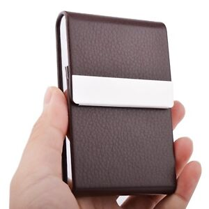 Professional stylish metal leather business card holder case slim image is loading professional stylish metal leather business card holder case colourmoves Image collections