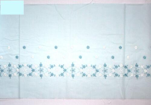 1 m finas entintado cenefas punta Batist 34 cm de ancho cenefa azul claro blanco nuevo
