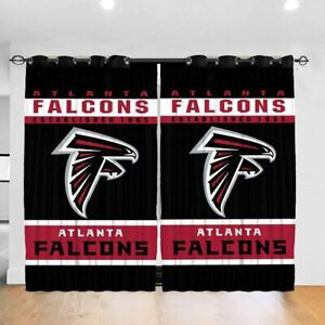 2 Panel Atlanta Falcons Curtain Football Window Curtains Drapes for Living Room