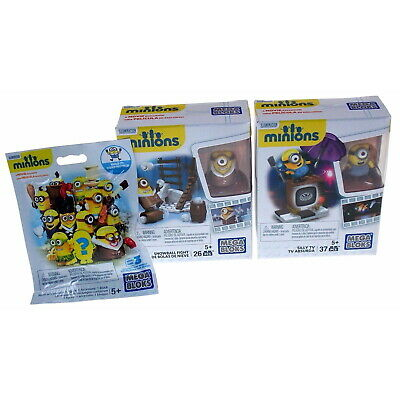 Toys Minions Mega Bloks Build it sets 2 to choose from Snowball ...