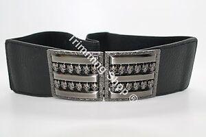 NUOVO-da-donna-nero-elasticizzato-elastico-vita-fibbia-della-cintura-moda-2-034