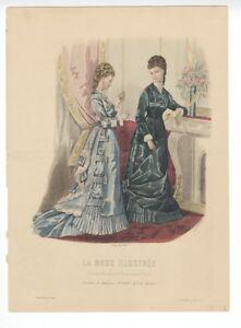 Ladies-Fashion-Print-034-La-Mode-Illustree-034-1877-No-42