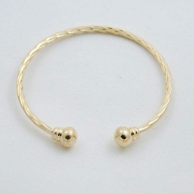 18k Gold Ep Children S Childs Bangle Bracelet