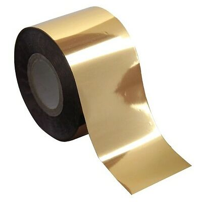 """Solid Gold Metallic"" transfer nail foil - 1 meter"