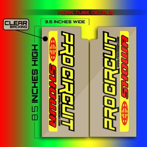 2009 2010 2011 2012 KX 125 250 PRO CIRCUIT FORK TUBE MOTOCROSS DECALS GRAPHICS