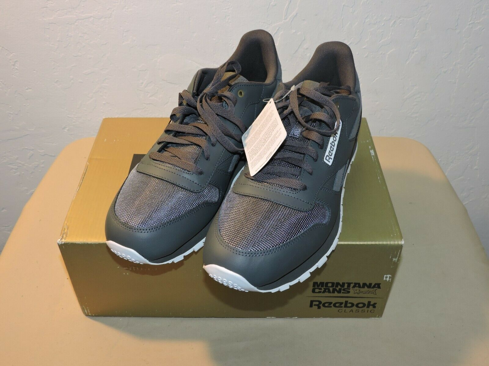 76ae70fa9741 Reebok Classic Grey Leather Montana Cans Limited Edition Casual shoes Men s  12
