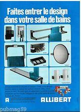 Publicité Advertising 1973 Les Accessoires de salle de bain Allibert