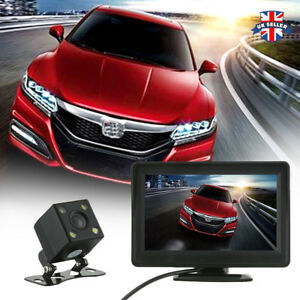 4-3-034-LCD-Monitor-Wired-Kit-and-HD-Car-Rear-View-Reversing-Camera-Night-Vision