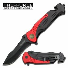 XXL Rettungsmesser federunterstütztes Messer Taschenmesser rot schwarz Alugriff